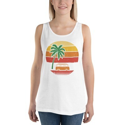 Womens Vintage Graphic Styled Tank T-shirt