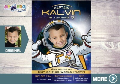 Astronaut Invitation. Out of this World Party. 003
