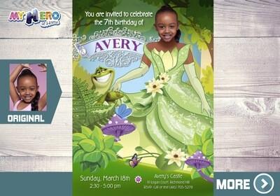 Princess Tiana Invitation. The Princess and the frog Party. Princess Tiana Party. Princess Tiana Themed Birthday. Princess Tiana Dress. 265