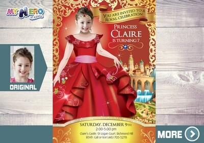 Princess Elena of Avalor Invitation. Princess Elena of Avalor Party. Princess Elena of Avalor Birthday. Princess Elena Themed Party. 248