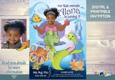 Little Mermaid Invitation. Little Mermaid Party Ideas. Little Mermaid Themed Party. Little Mermaid Birthday Ideas. Fiesta tema Sirenita. 238