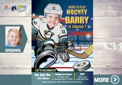 The Mighty Ducks Invitation. The Mighty Ducks Birthday Party. 336