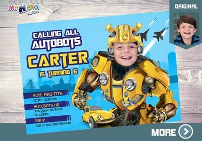 Autobots Birthday Invitation. Transformers Party Ideas. 293