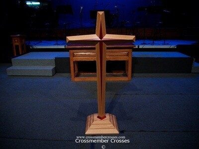 Two Layer Tapered Beveled Pulpit Crosses