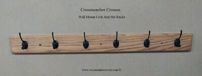 Wall Mount Coat And Hat Racks - Oak - 24
