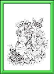 Fairy Children Digi Stamp 2
