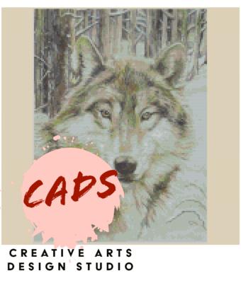 Wolf Cross stitch Pattern