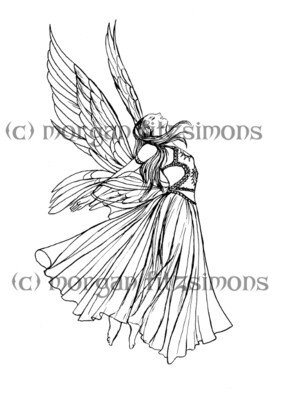 Spiritual Digi Stamp Angel 1