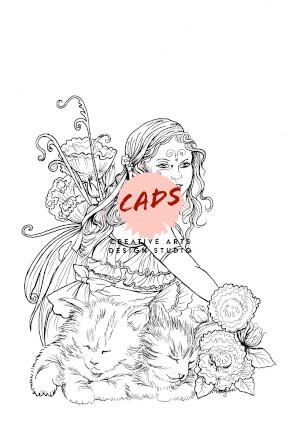 Fairy Children Digi Stamp 9