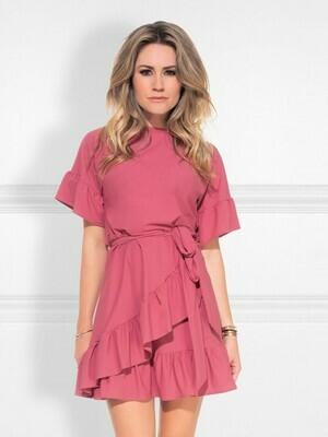 Suzy Overlay Dress Rose