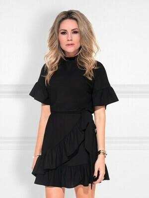 Suzy Overlay Dress Zwart