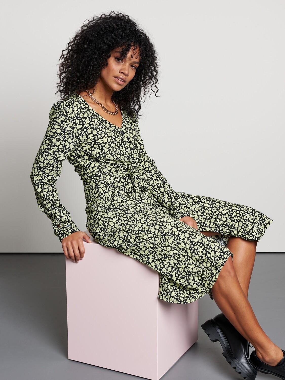Lime Flowers Dress