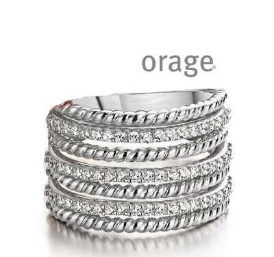 Orage ring AA119breed zilver