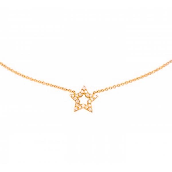 Collier ster en diamant