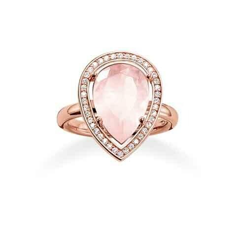 Thomas Sabo ring TR2043 Z15 roze