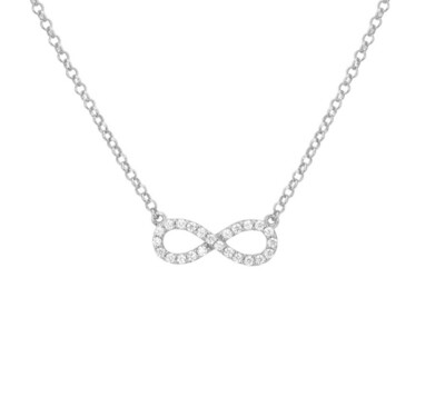 Collier mini infinity in stras