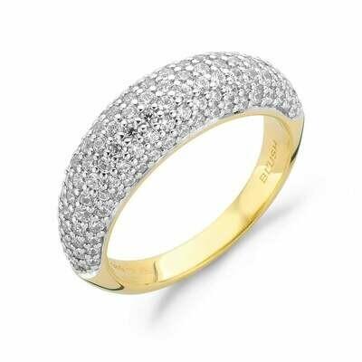 Blush ring 14 kt goud met zirconia