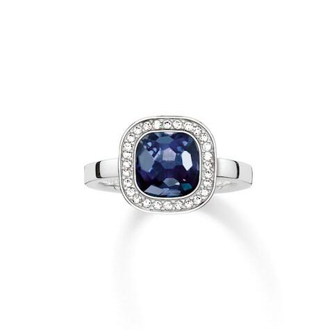 Thomas Sabo ring TR2029 W14 blauw