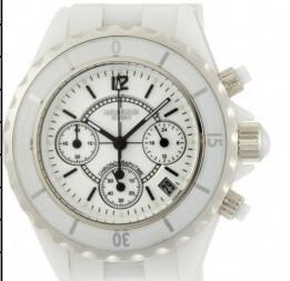 Kbros uurwerk wit keramiek 9429
