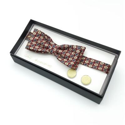 Bowtie - with soft yellow salmon cufflinks