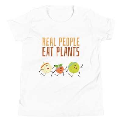 Real People Eat Plants Youth Short Sleeve T-Shirt