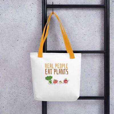 Real People Eat Plants Tote bag All Veggies