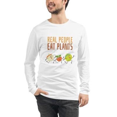 Real People Eat Plants Unisex Long Sleeve Tee All Fruit