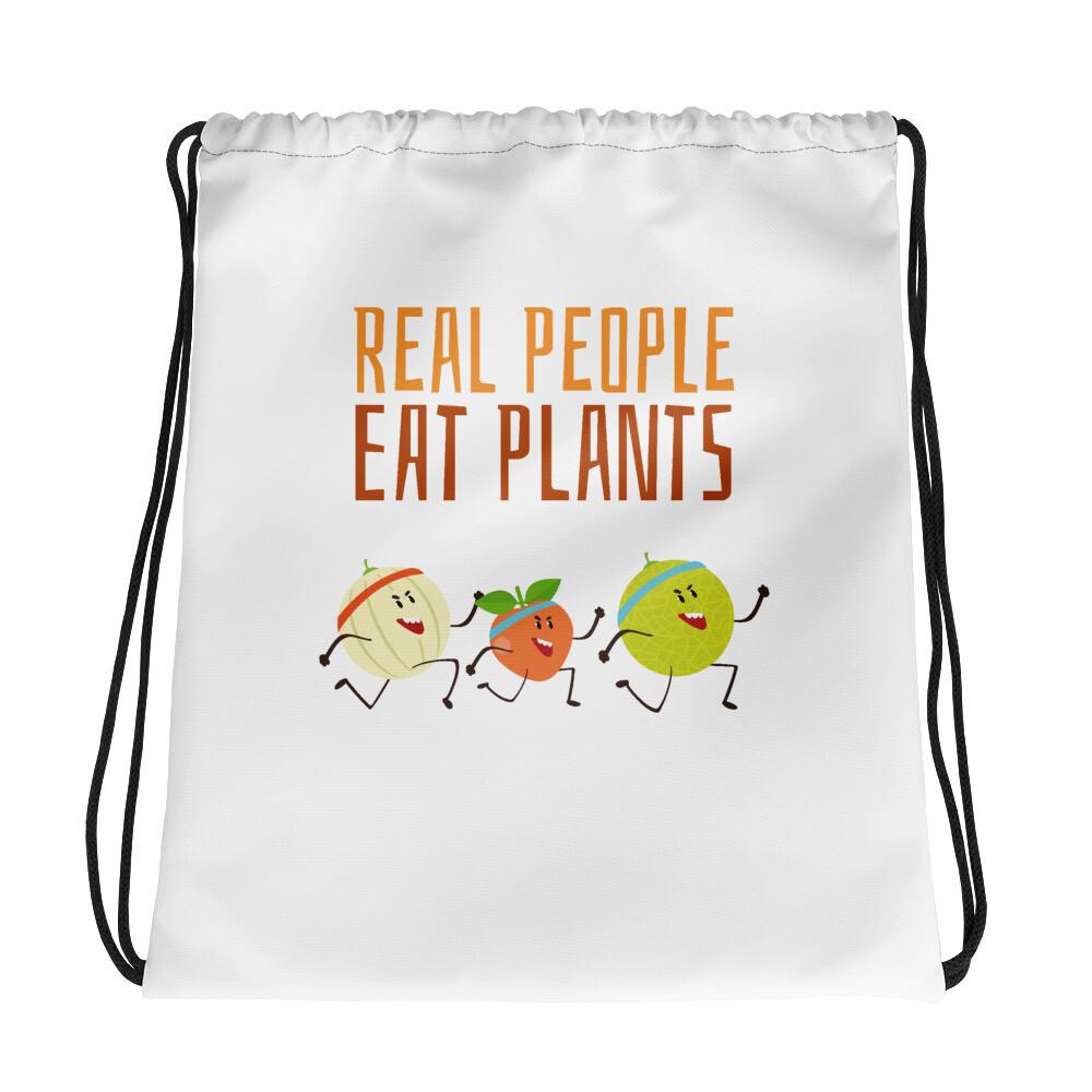 Real People Eat Plants Drawstring bag All Fruit