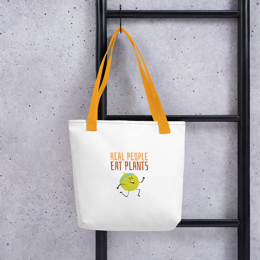 Real People Eat Plants Tote bag Muskmelon