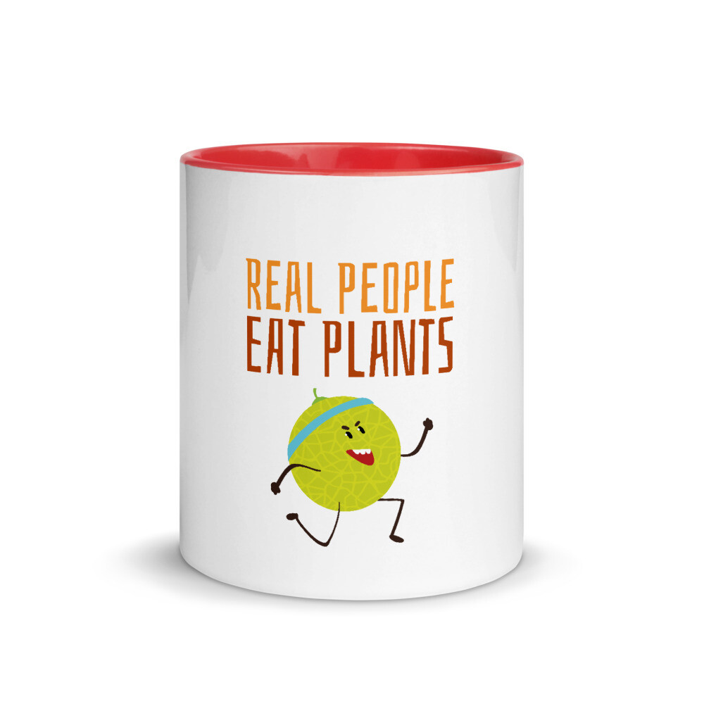 Real People Eat Plants Mug with Color Inside Muskmelon