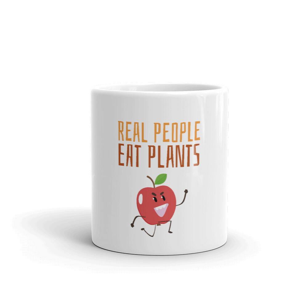 Real People Eat Plants Glossy Mug Apple