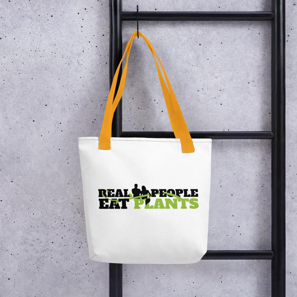 Real People Eat Plants Tote bag Logo