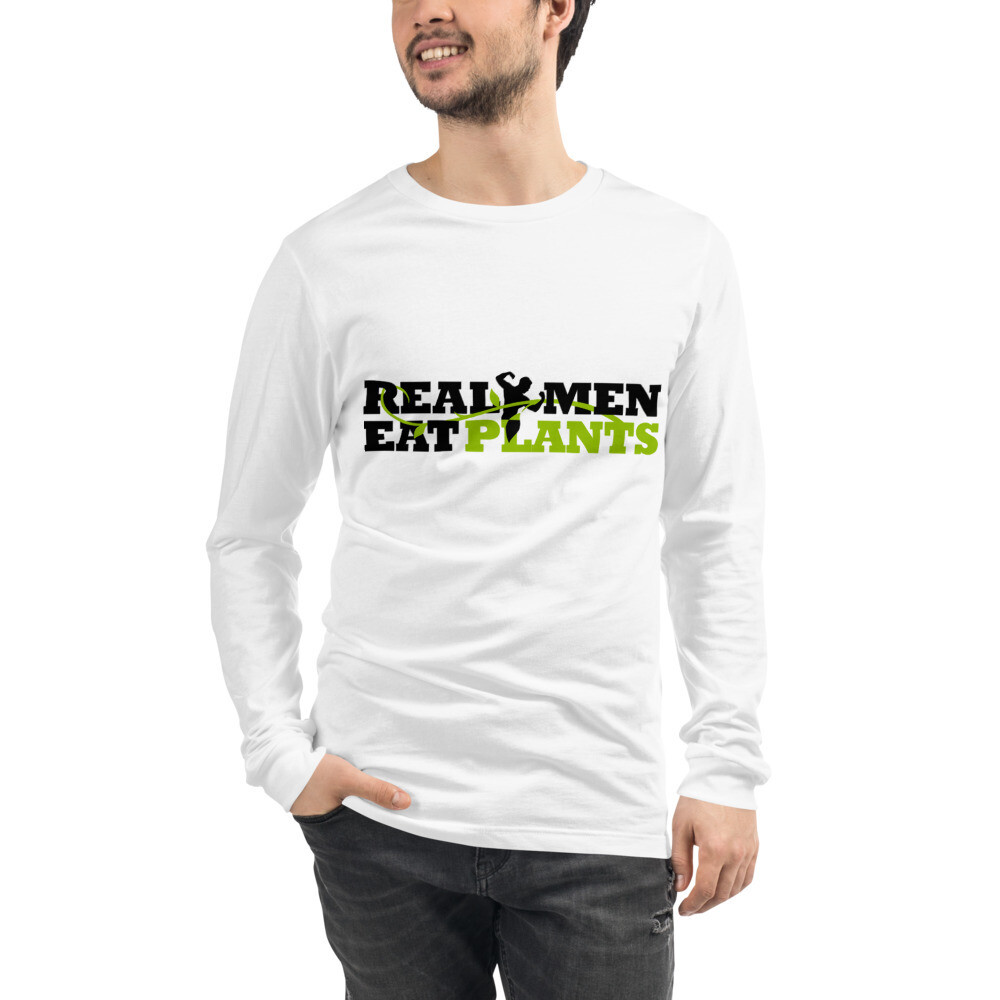 Real Men Eat Plants Unisex Long Sleeve Tee Logo
