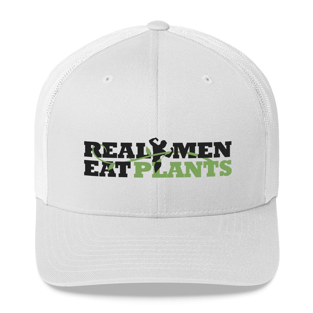 Real Men Eat Plants  Trucker Cap Logo