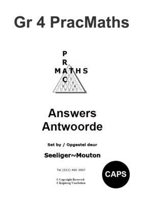 Gr 4 Prac Maths Answers/ Antwoorde