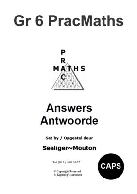 Gr 6 Prac Maths Answers/ Antwoorde