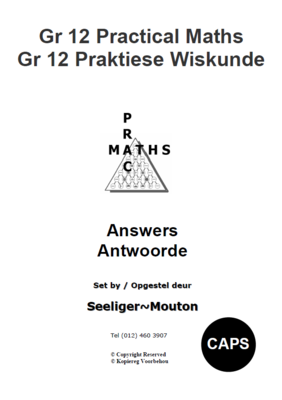 Gr 12 Prac Maths Answers/ Antwoorde