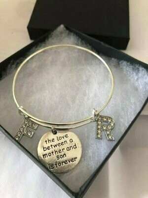 Love Between A Mother And Son Charm Bracelet