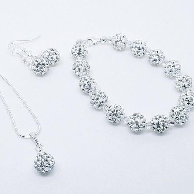 Shamballa and Swarovski Crystal Set