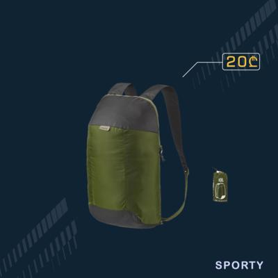 დასაკეცი მწვანე ჩანთა 10L