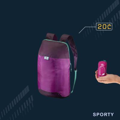 დასაკეცი იასამნისფერი ჩანთა 10L