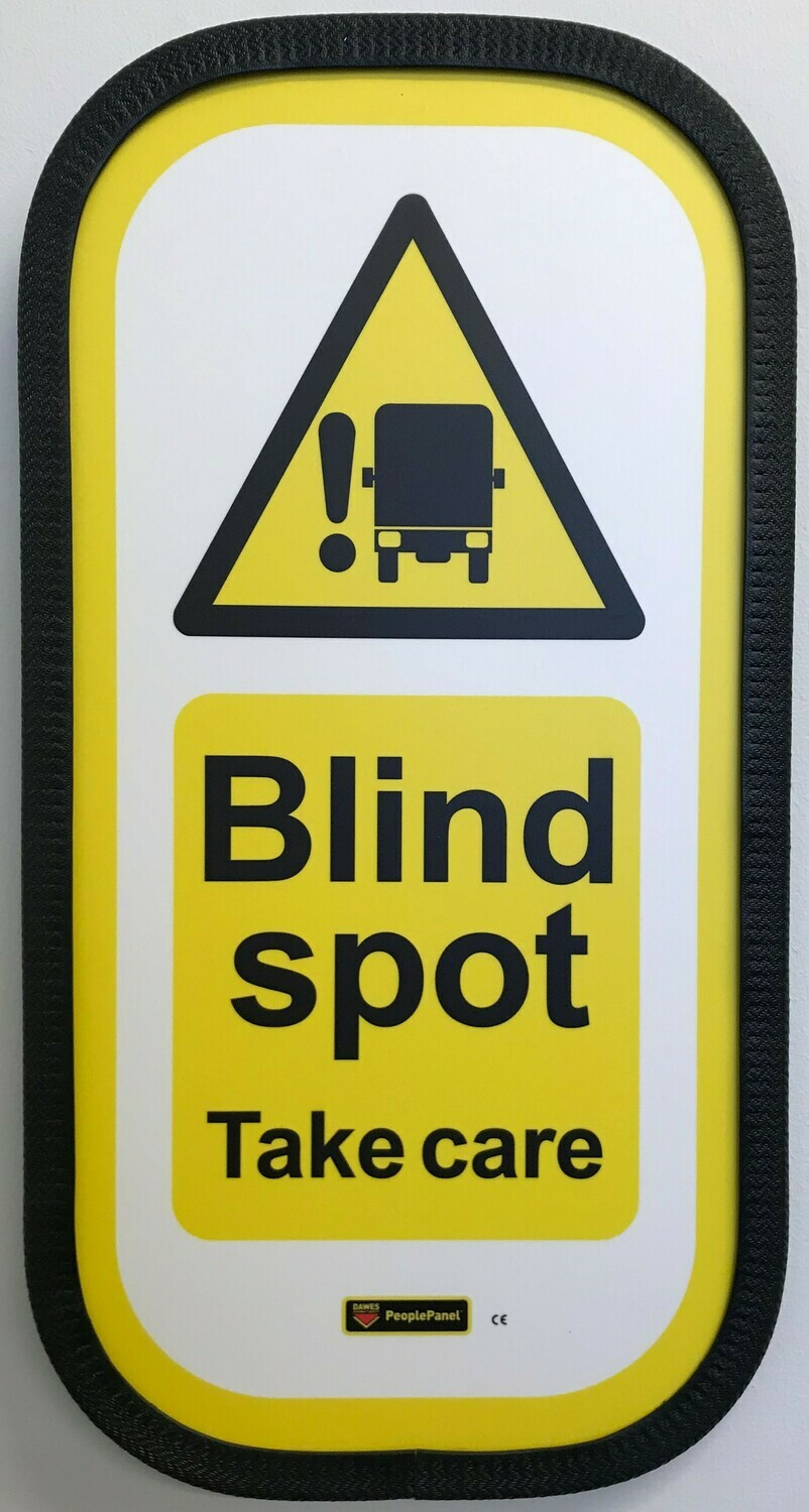Blind Spot Sign Full Vertical
