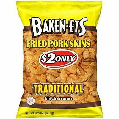 Baken-Ets Fried Pork Skins Traditional Chicharrones - 3 Oz