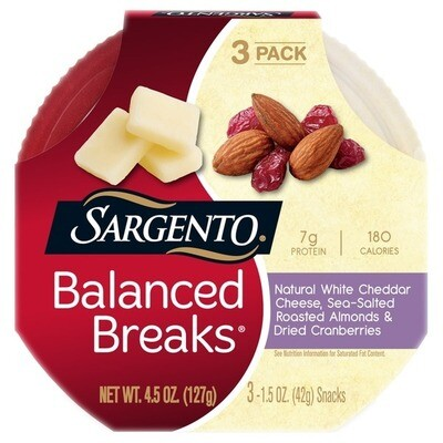 Balance Breakers Chedder Cheese, Almond & Cranberry
