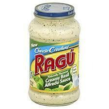 Cheese Creamy Basil Alfredo Ragu