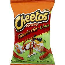 Cheetos Crunchy Flamin Hot Limon Cheese - 3.5oz
