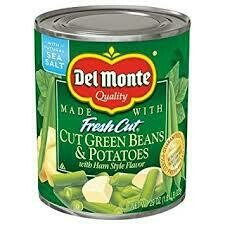 Delmonte cut green beans and potatoes