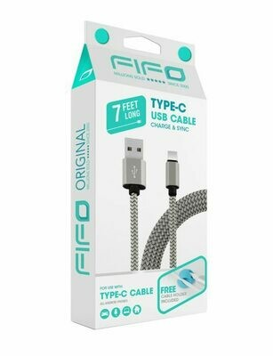 FIFO USB Cable for Type-C - 7 Feet Long