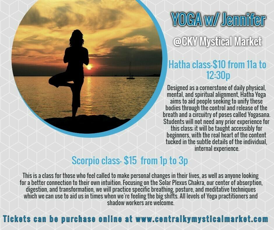 Yoga W/ Jennifer: Hatha Class 11:00am-12:30pm