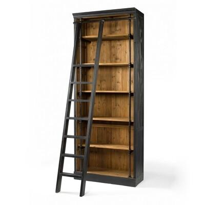 French Library Книжный шкаф для офиса с лестницей